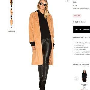 D.ra Los Angeles Camile camel wool coat-S